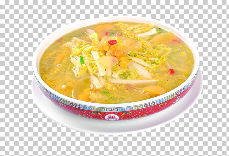 Yellow curry Douhua Stock Vegetable Soup, Soup and baby food.
