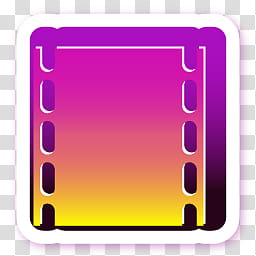 Razz icons for docks, movies, pink and yellow film logo.