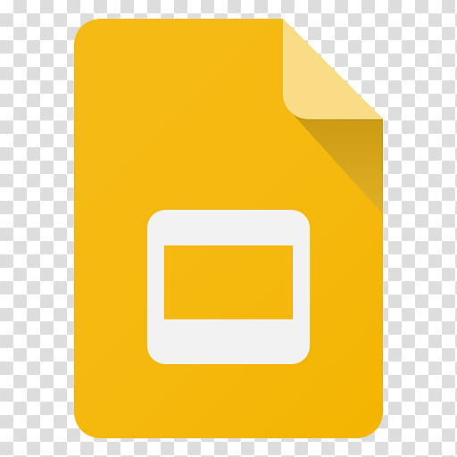 Android Lollipop Icons, Slides, yellow document icon.