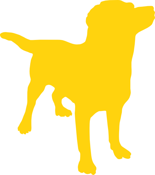 Yellow Dog Silhouette Clip Art at Clker.com.