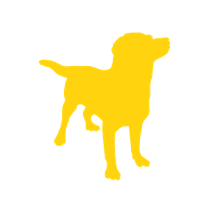 Yellow Dog Silhouette clipart, cliparts of Yellow Dog Silhouette.