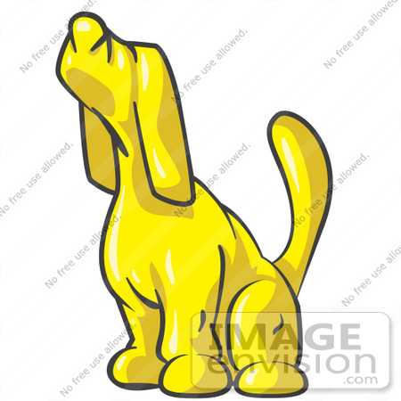 Yellow Dog Sleeping Clipart.