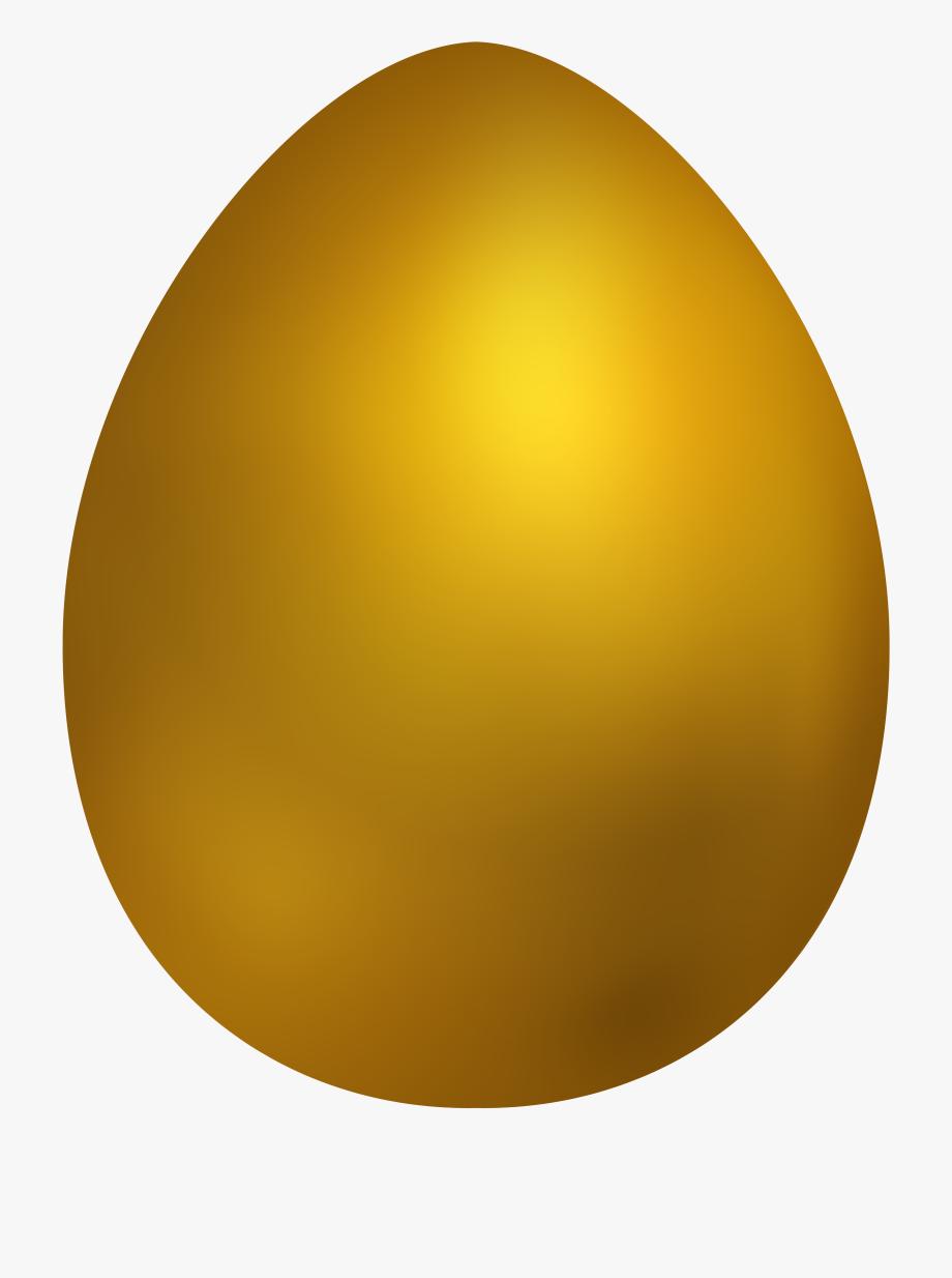 Gold Easter Egg Png Clip Art.