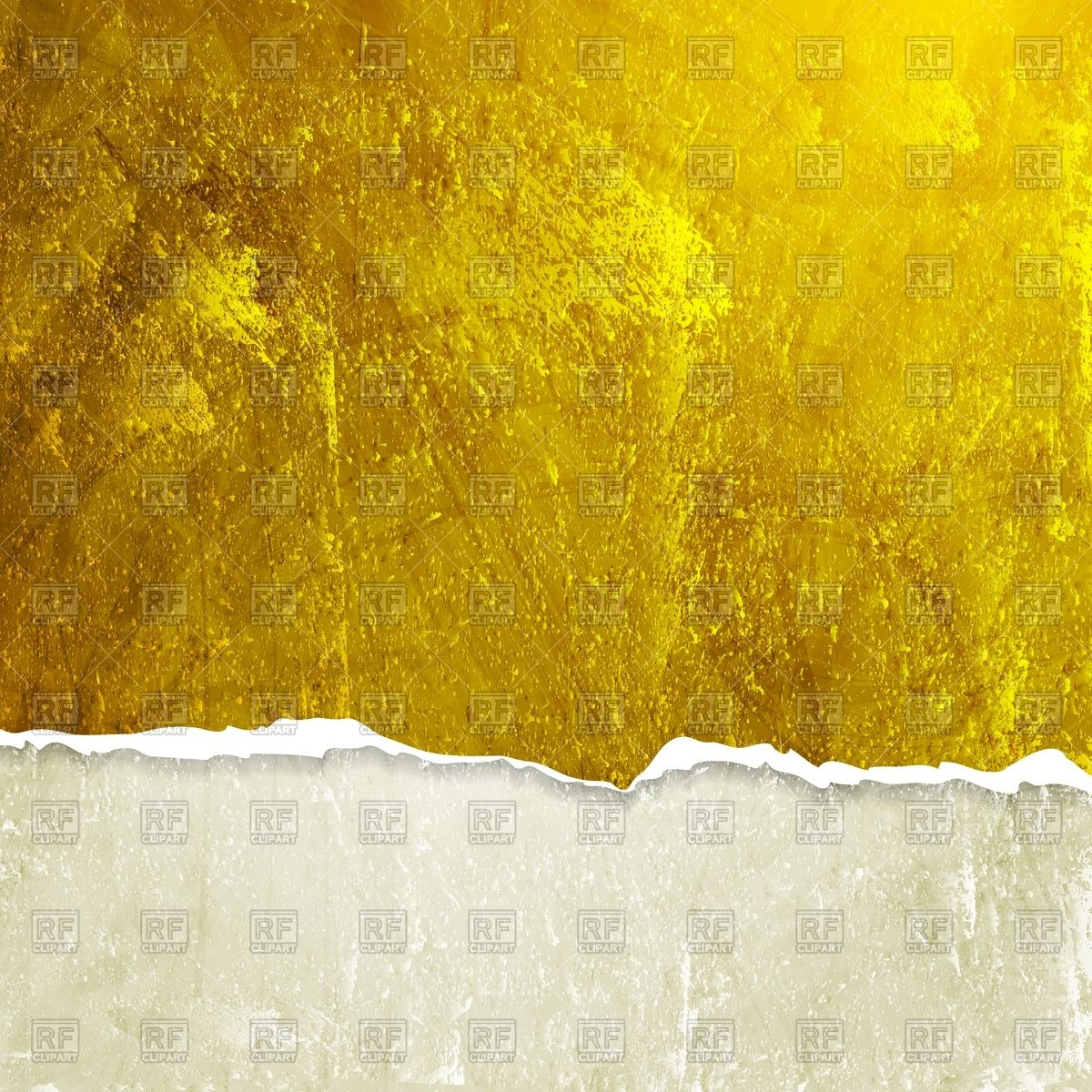 Yellow grunge background with ragged edge Vector Image #55390.