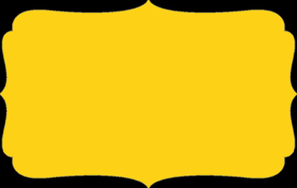 Free illustration: Frame, Edge, Yellow.