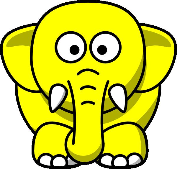 Yellow Elephant Clip Art at Clker.com.