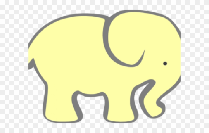 Larger Clipart Gray Yellow Elephant.