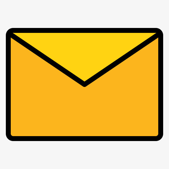 Yellow Envelope Cartoon Hand PNG Image And Clipart For Elegant.