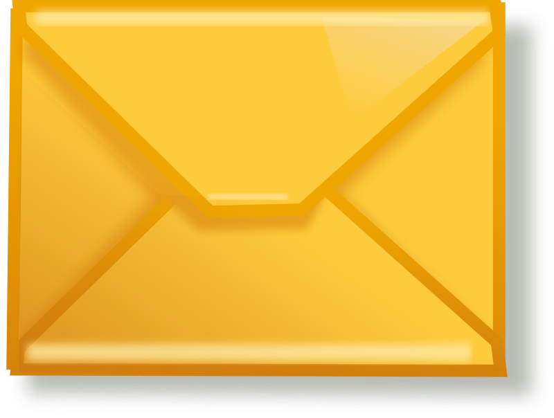 Free Clipart: Yellow mail.