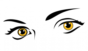 Yellow Eyes Free Vector.