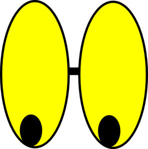Yellow Watching Eyes Clip Art at Clker.com.