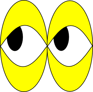 Yellow eyes clipart.