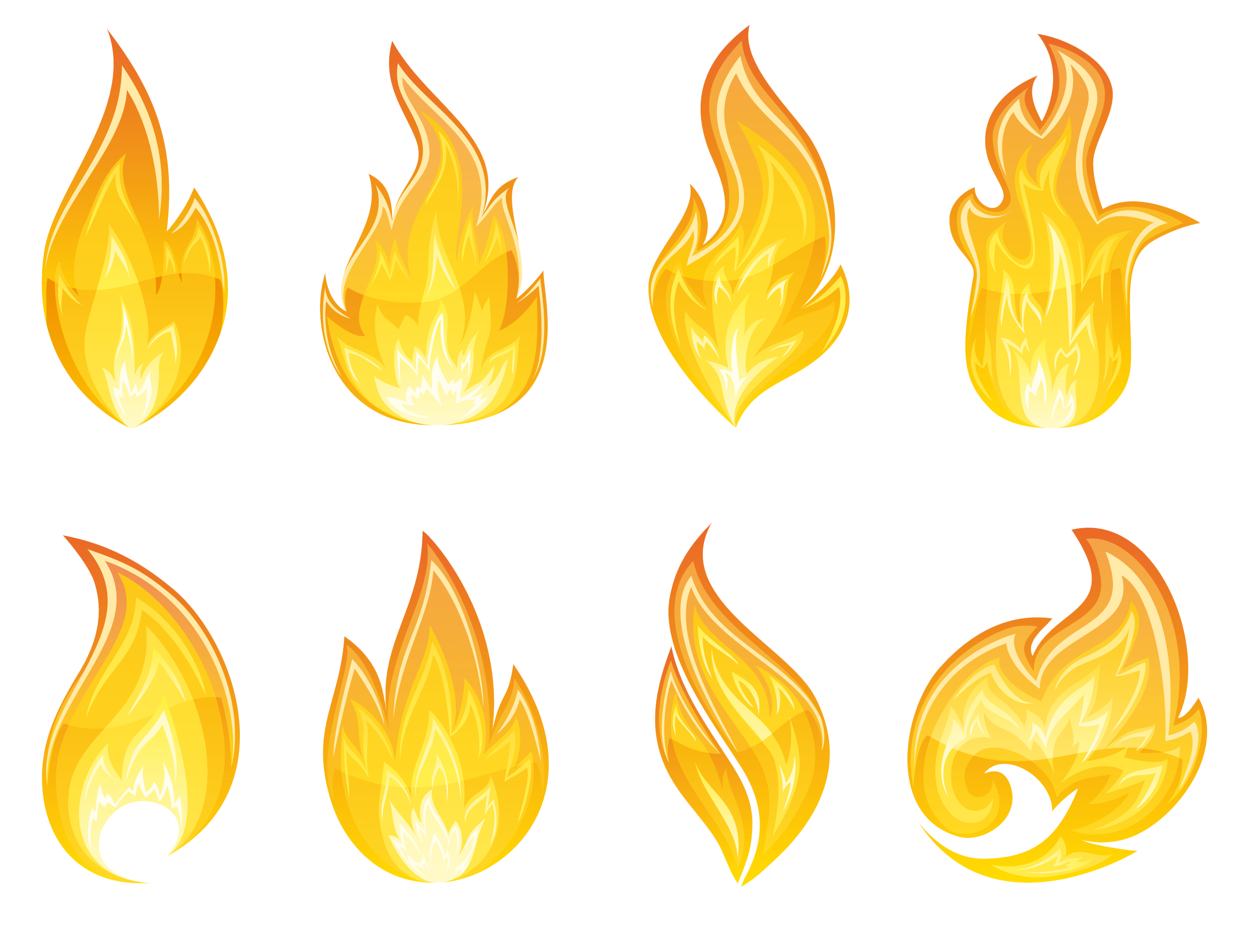 transparent fire clipart #19