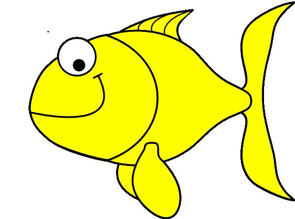 Yellow Fish clip art.