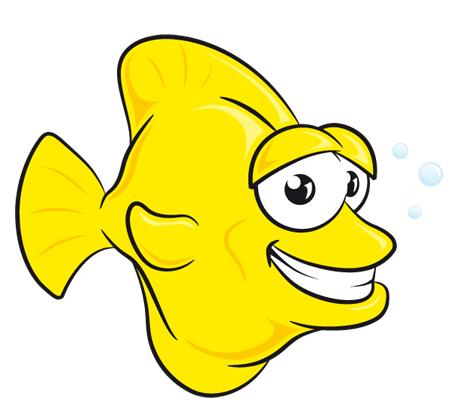 cartoon yellow fishHD IMG.