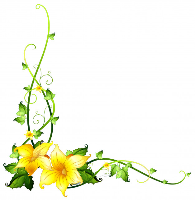 Yellow flower border clipart 4 » Clipart Station.