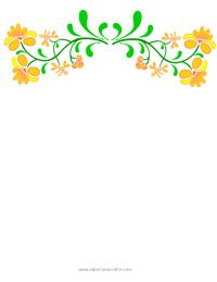 Yellow Floral Border.