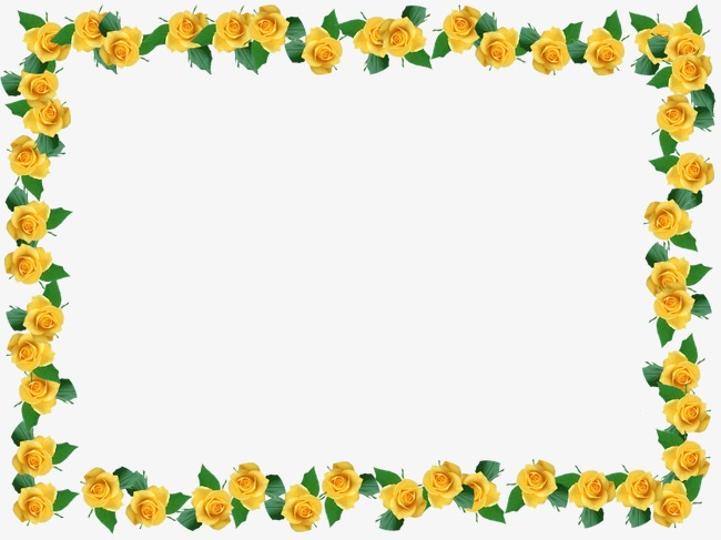 Yellow flower border clipart 8 » Clipart Station.