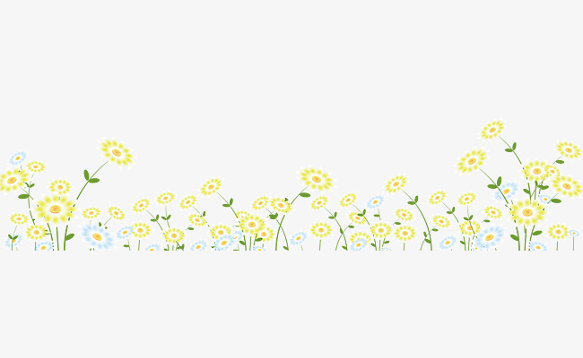 Yellow flower border clipart 7 » Clipart Station.