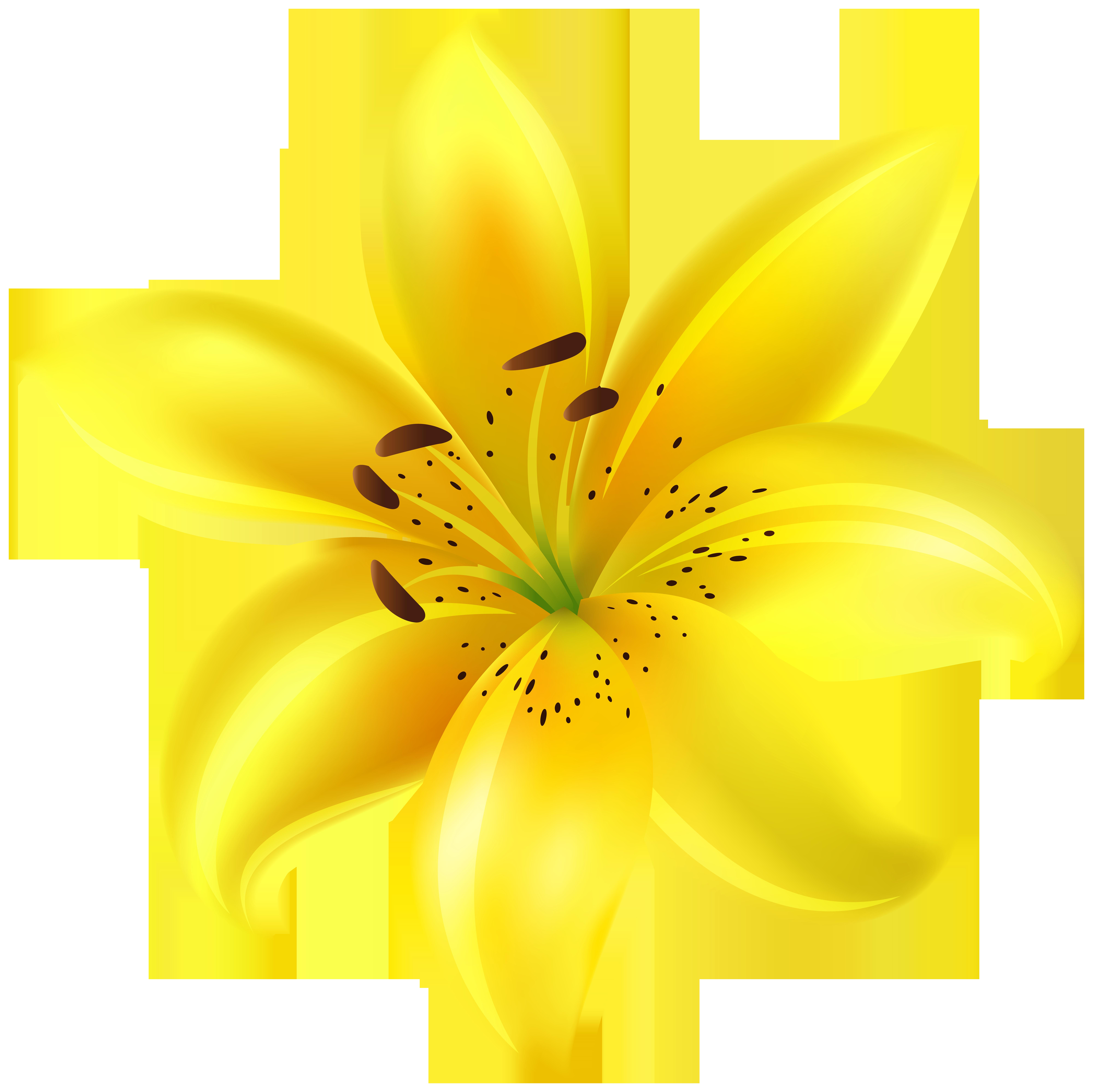 Yellow Flower Clip Art Image.