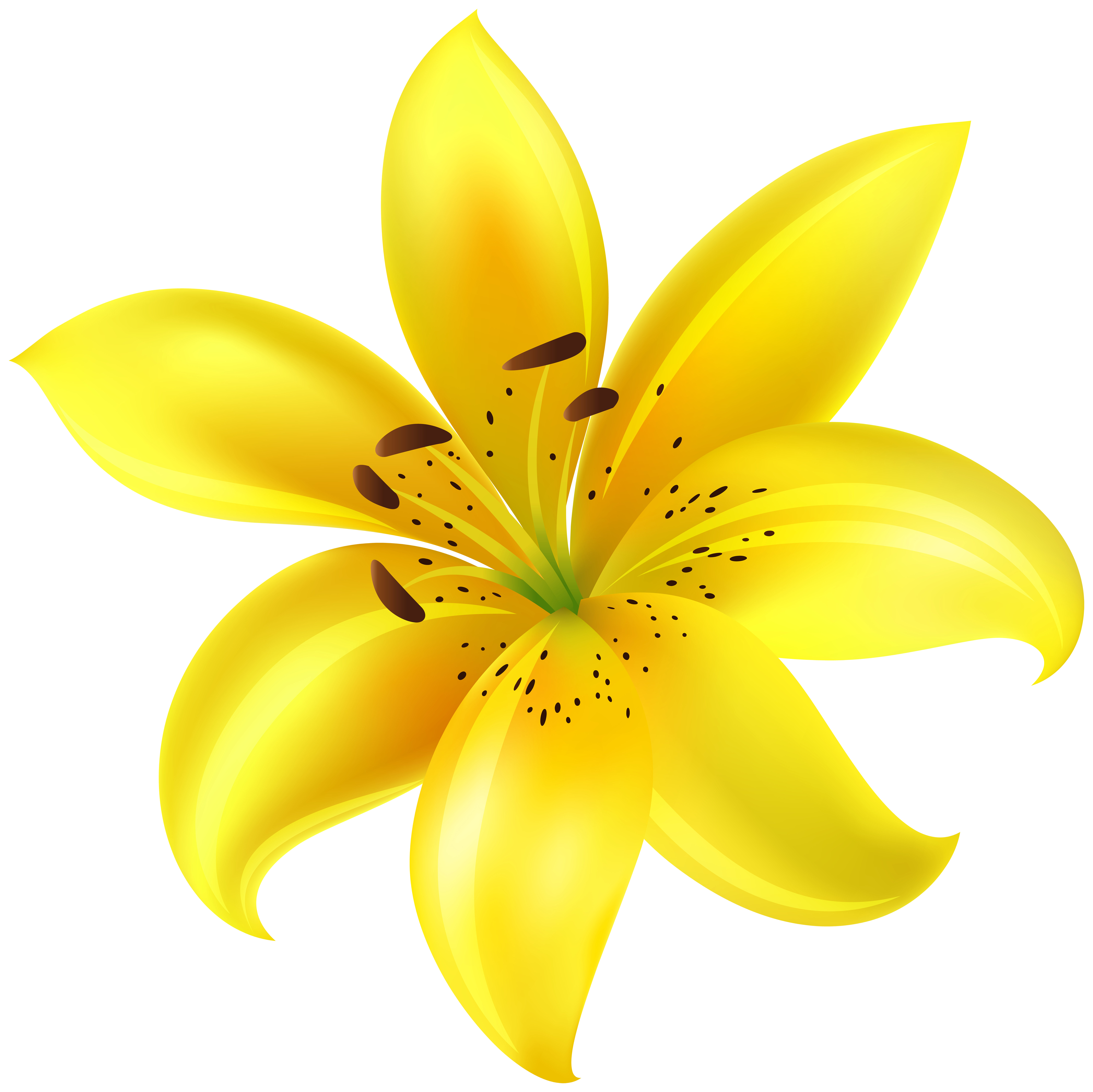 Yellow Flower Clip Art Image.