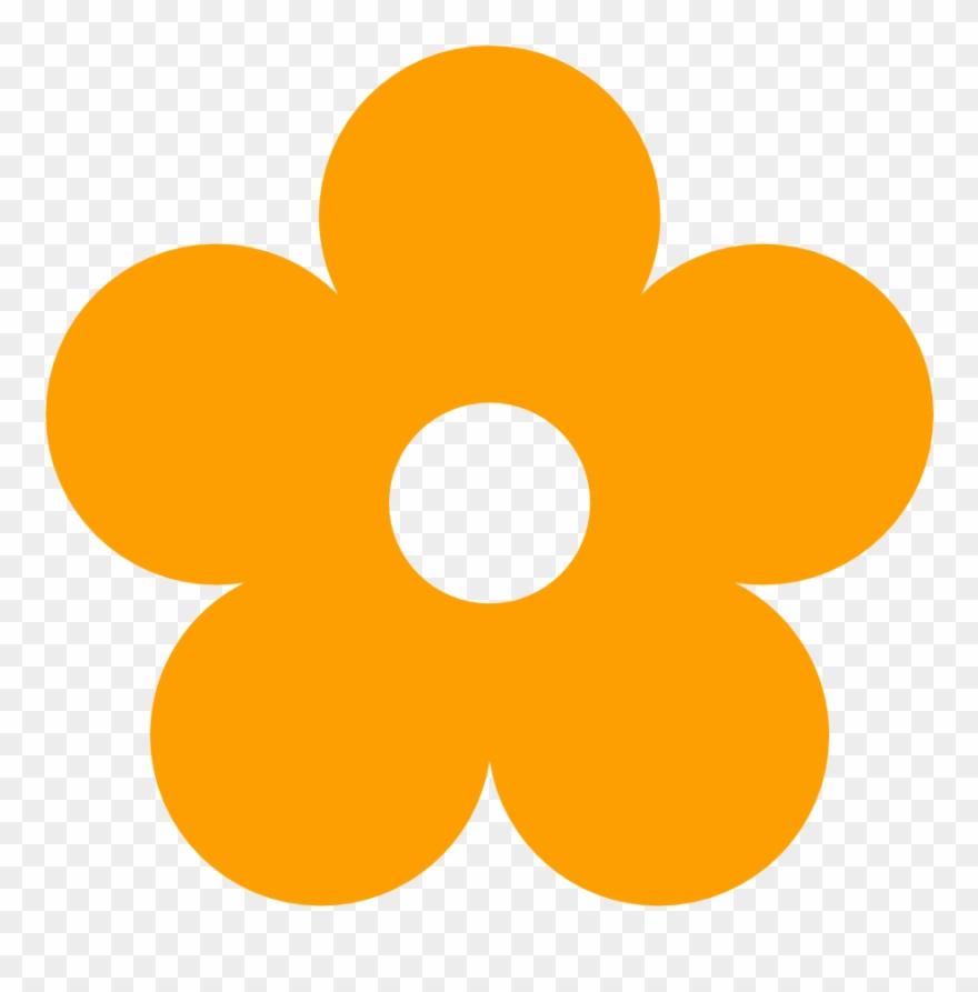 Orange Flower Clipart Kid Art.