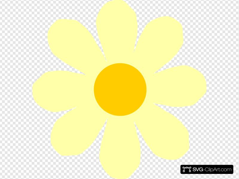 Yellow Flower Clip art, Icon and SVG.