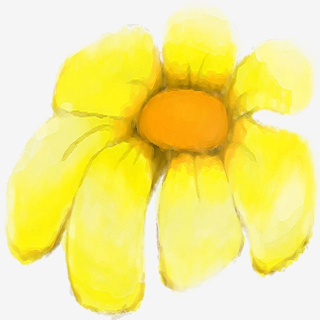Vector Cute Yellow Flower, Flower, Floral, Nature PNG and Vector for.