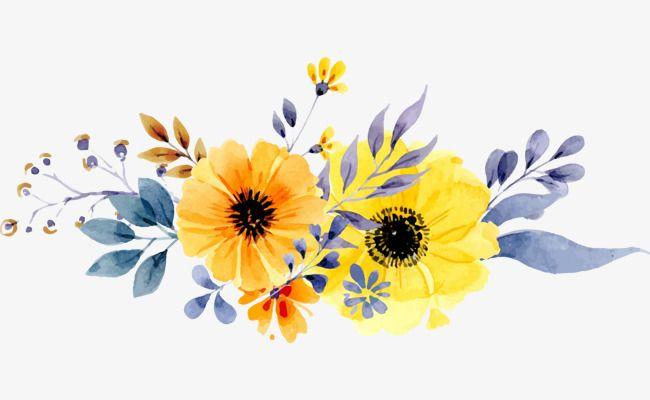Vector Hand Painted Flower Pattern, Flowers, Floral Pattern, Flowers.