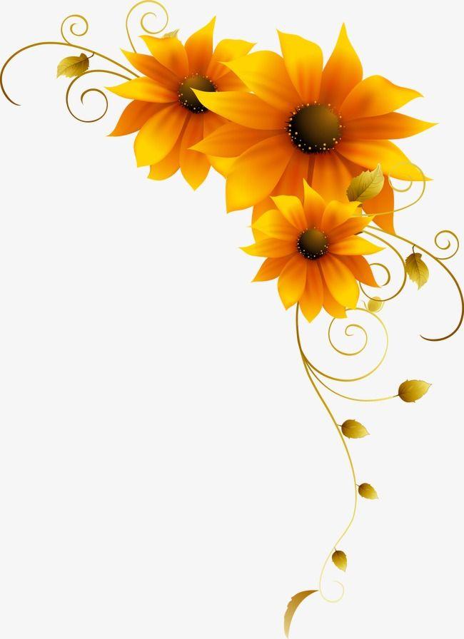 Sunflower Yellow Flower Pattern, Flower Clipart, Yellow, Sunflower.