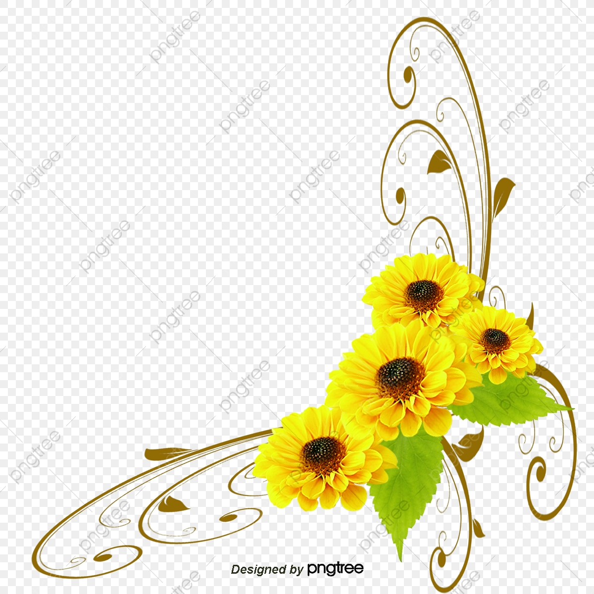 Yellow Flower Pattern, Flower Vector, Pattern Vector, Yellow PNG and.