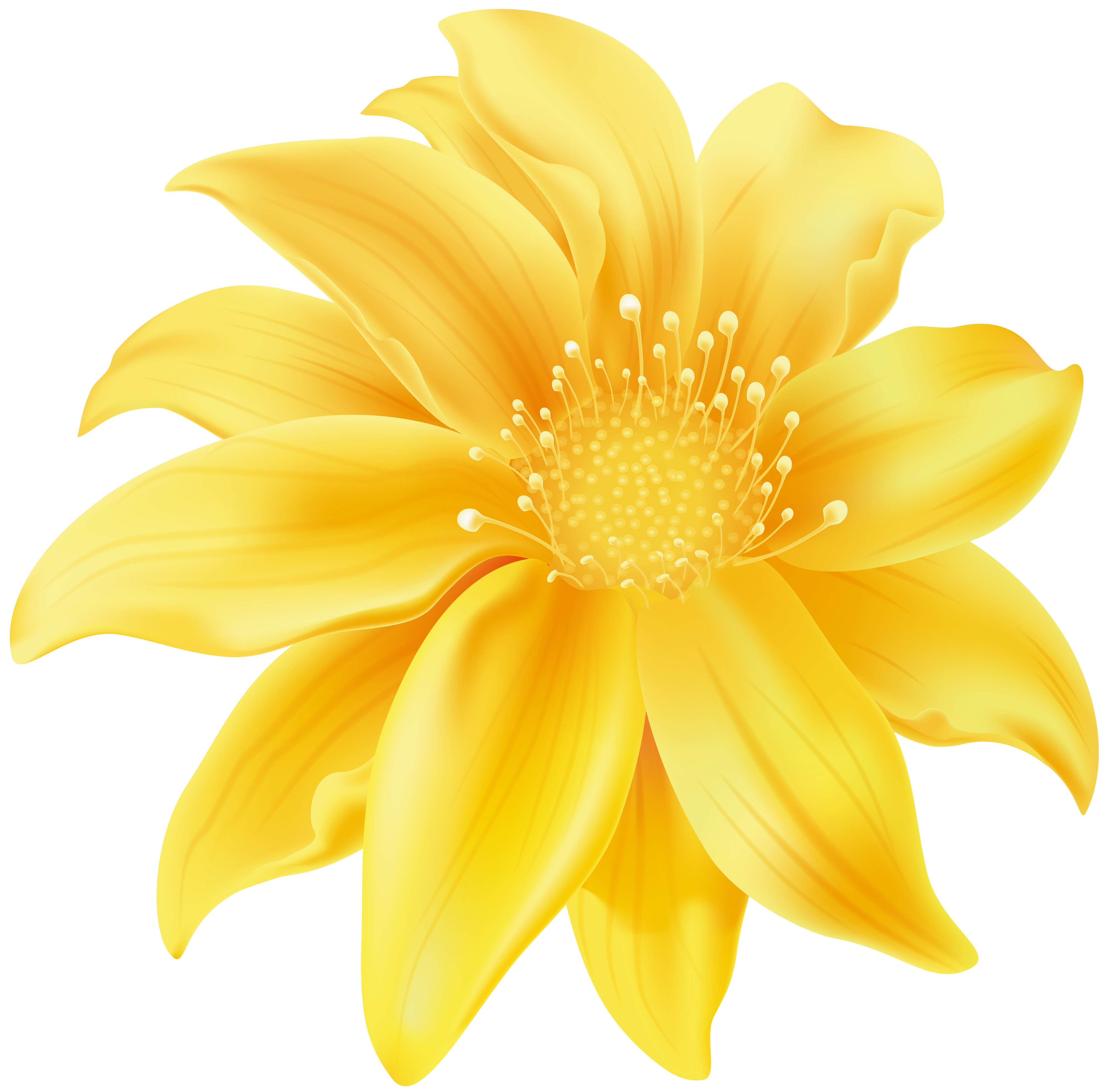 Yellow Flower PNG Clip Art.