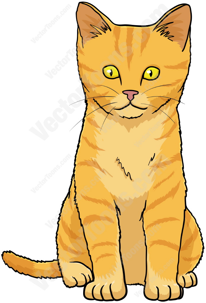 Sitting Kitten Clipart.