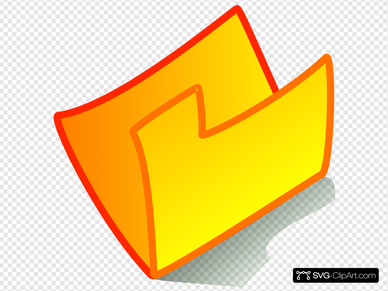 Yellow Folder Clip art, Icon and SVG.