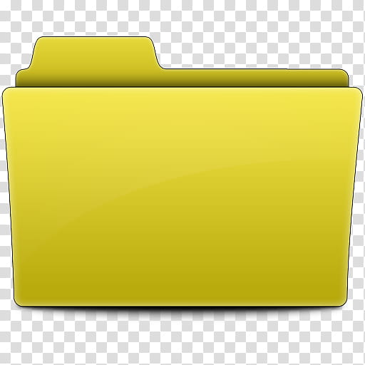 Label Folders, yellow folder illustration transparent.