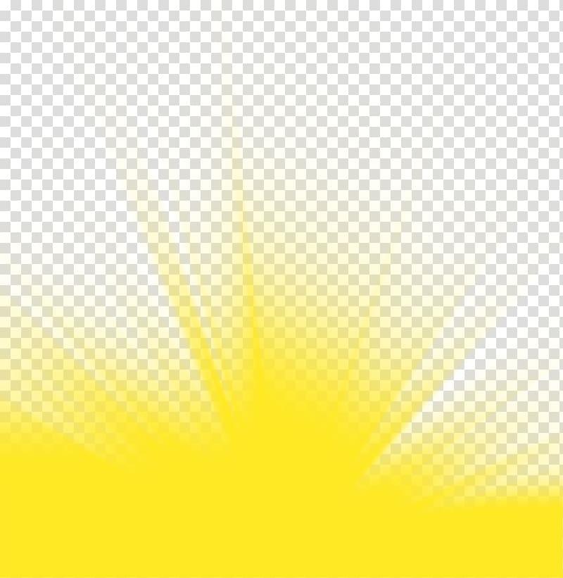 Sun rays illustration, Sunlight Sky Yellow Close.