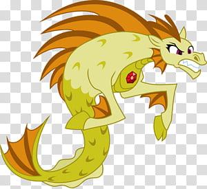 Adagio Dazzle&#;s Final Form, yellow and brown dragon.
