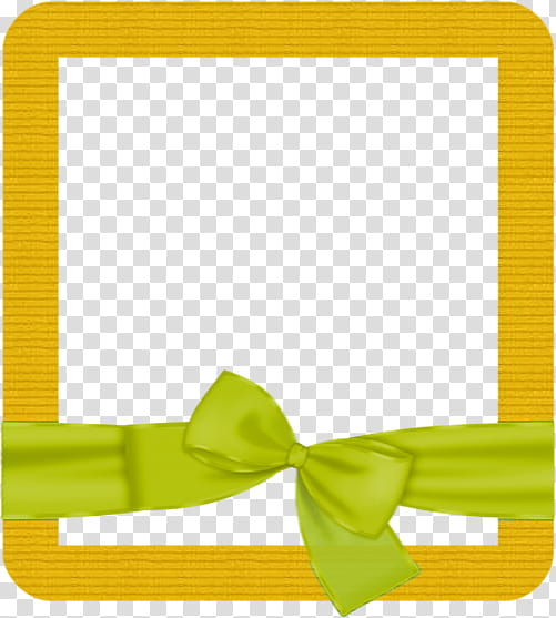 Yellow frame transparent background PNG clipart.