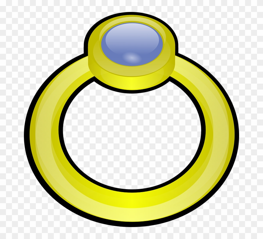 Golden Ring With Gem Clip Art At Vector Clip Art Clipartcow.