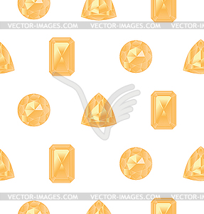 Yellow gemstones set.