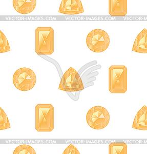 Yellow gemstones set.