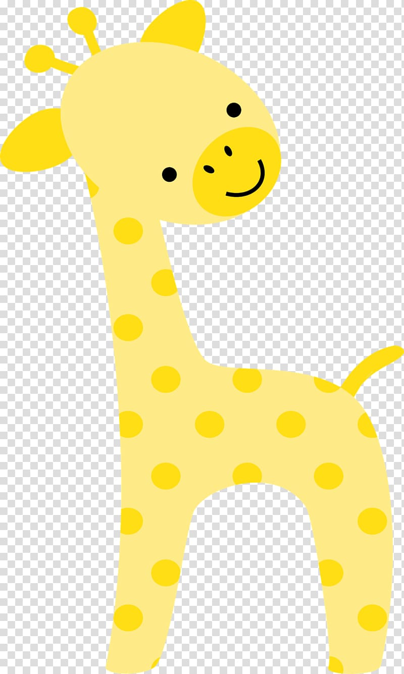 Yellow giraffe illustration, Baby Jungle Animals Zoo Safari.