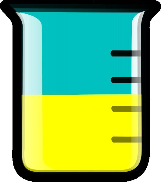 Yellow Science Beaker Clipart.