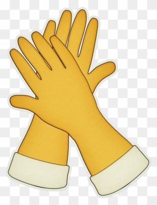 Glove Clipart Yellow Glove.