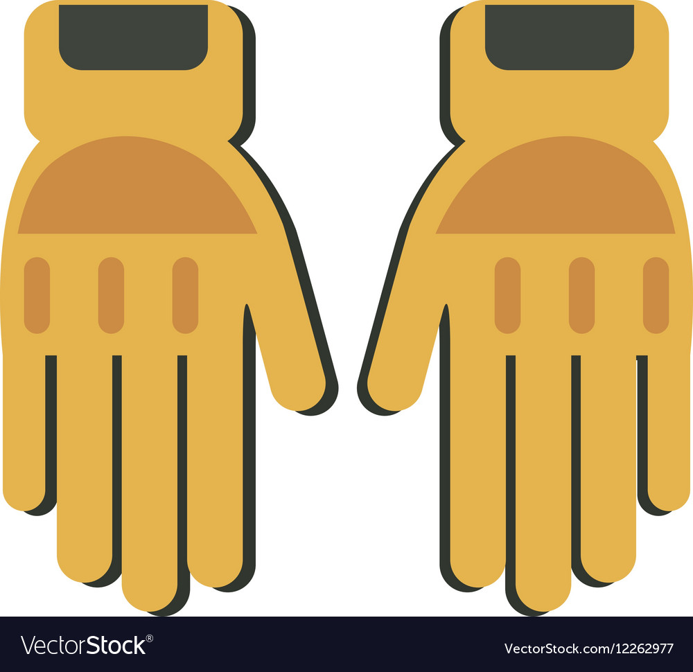 Yellow gloves protection fireman elements.