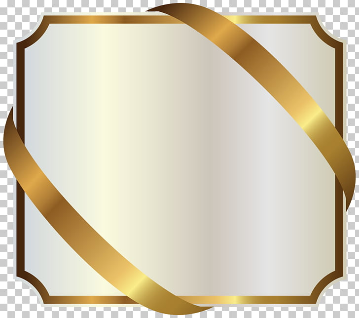 Gold Ribbon , ribbon PNG clipart.