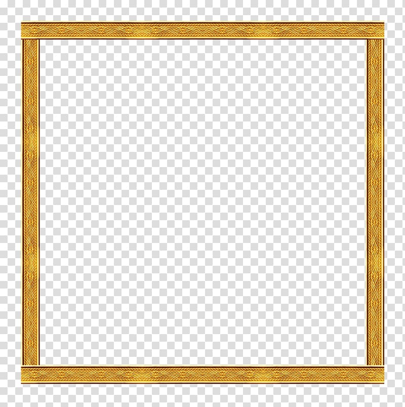 Frame Yellow , Gold frame transparent background PNG clipart.