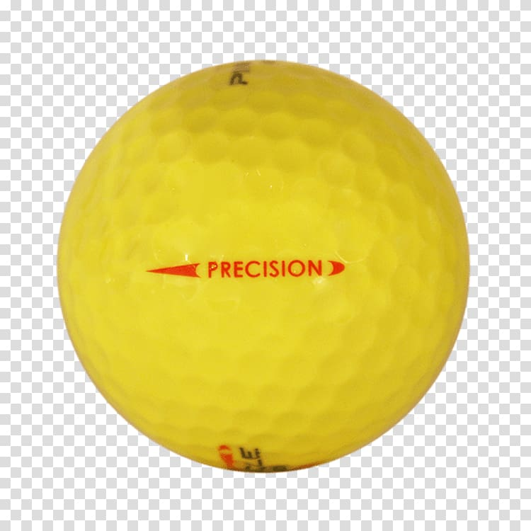 Golf Balls Yellow Common cold, jet ribbon transparent.