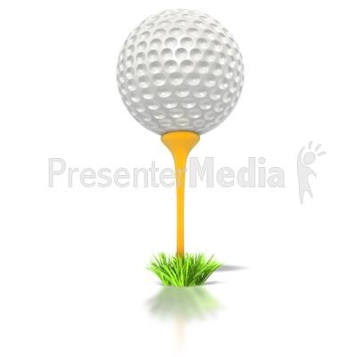 golf ball on tee.