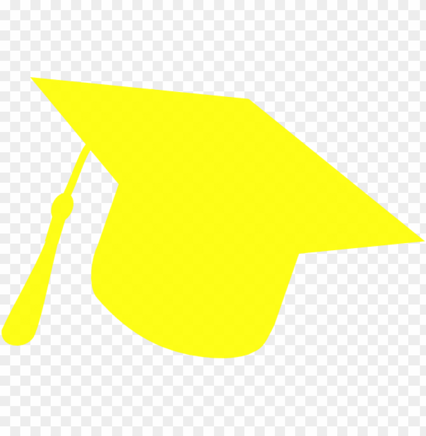 yellow graduation cap clipart PNG image with transparent.